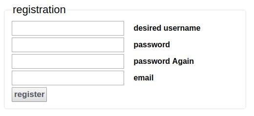 Registration form example